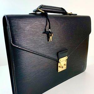 Louis Vuitton Serviette Couseiller black Epi